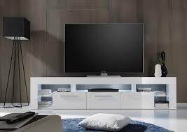 lowboard 200 cm weiss hochglanz woody 93 00789 holz modern