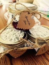 Individual Homemade Strawberry Jam Jars With Spread The Love Labels Great Bridal