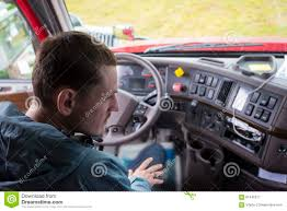 100 Semi Truck Interior Driver In Cab With Modern Dashboard Stock Image