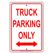 100 How To Parallel Park A Truck Mazoncom Ing Only Thick Luminum Metal Sign Premium