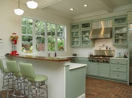 schoolhouse shades lend sized style to kitchen