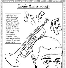 Louis Armstrong Coloring Page 5 Every Month Is Black History Pages