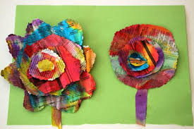 A Completed Set Of Painted Newspaper Flowers