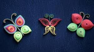 Picture Of How To Make Beautiful Butterflies Using Paper Art Quilling