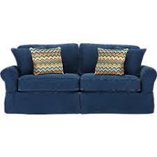 cindy crawford home beachside blue denim sofa sofa hpricot com
