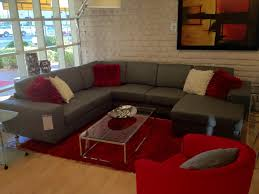 Hodan Sofa Chaise Art Van by Another Version Grey Couch Red Accent Downstairs Family Room