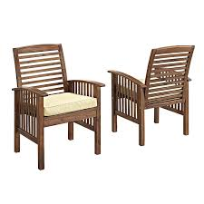 Amazon Prime Patio Chair Cushions by Amazon Com We Furniture Solid Acacia Wood 4 Piece Patio Chat Set
