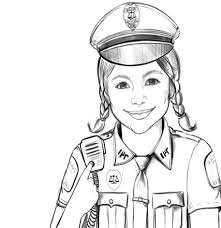 Colouring Pages Coloring Police On Plans Free Kids