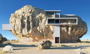 100 Modern House Inside Rock Built Into The Side Of An Enormous Boulder