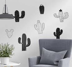kaktuspflanze wandaufkleber