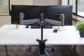Desk Mount Monitor Arm Dual by 320 Dual Monitor Arm Ergotech
