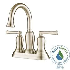 Pfister Faucets Home Depot by Pfister Lindosa 4 In Centerset 2 Handle High Arc Bathroom Faucet