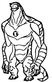 Ben 10 Humungousaur From Alien Force Colouring Page