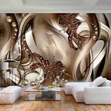 details zu vlies fototapete 3d effekt ornamente braun diamant tapete wandbilder wohnzimmer