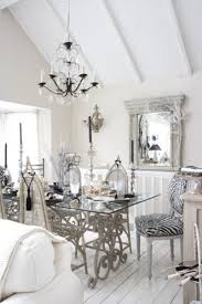 Dining Room Awesome Shabby Chic Dining Room With Glass Dining