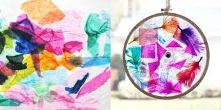 Suncatcher Crafts Kids Can Make With Colored Tissue Paper