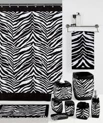 Zebra Print Bathroom Accessories Uk by Safari Black U0026 White Zebra Print Bath Accessories Bathroom