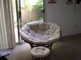Pier One Rocking Chair Cushions by Furniture Comfortable Papasan Chair With White Hairy Cushions On