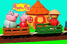 Peppa Pig Pumpkin Carving by Peppa Pig Safari With Daniel Tiger Zoe Zebra U0026 Daddy Pig Train