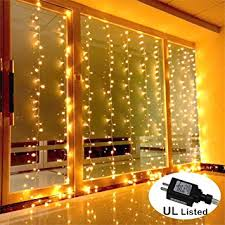 AMARS Safe Voltage Bedroom String LED Curtain Lights Waterfall Window Outdoor Indoor For