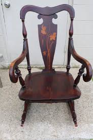 Vintage Mahogany Inlay Rocking Chair - Jul 16, 2017 | Denise Ryan ... Childs Antique 1800s Eastlake Rocker Rocking Chair Childrens Antique American Queen Anne Chair Mid18th Century In Maple Back Queen Anne Splat W Cream Seat Loveseat Fniture Detective Glider Rocker With 1888 Patent Is Valued At Crished Poessions Very Fine Walnut Balloonseat Wing Massachusetts Edwardian Country Kitchen Windsor Elbow Coinental Chairs Cowans Auction House The Midwests Vintage Bentwood 10791 La77922 Loveantiquescom Cane Georgian Antiques World Style Wing Frame Feb 16 2019 Copake