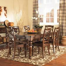 7 Piece Dining Set With X Back Chairs Nebraska Furniture Mart Rh Com Long Marble Room Tables Granite Table Ashley