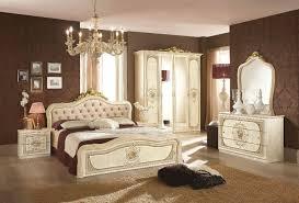 schlafzimmer 6 teilig in schwarz gold barock mit polsterung