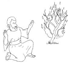 Nice Moses And The Burning Bush Coloring Page Pefect Color Book Design Ideas
