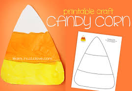 Printable Candy Corn Craft