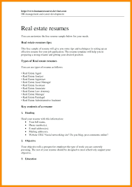 Real Estate Agent Resume Sample No Experience Templates Administrative Assistant Of Resumes By