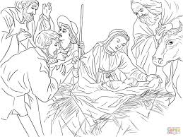 Religious Christmas Coloring Pages Inside Christian