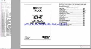 Chrysler Dodge TRUCK Parts Catalog (Part 2) 1982-1994   Auto Repair ... Dodge Truck Restoration Parts Catalog Awesome 28 Images 12 Valve Cummins Diagram Elegant Mopar Front End Steering Rebuild Kit Ram 2500 03 08 Thrghout Used 1999 W3500 80l V10 Nv4500hd 5 Spd Manual Serpentine Belt Routing Need A Request Sonnax Jc Whitney Trucks 2017 Charger 100 2004 Dakota Service Dipperdodge617 21954 Chevrolet And 551987 Chevy 2003 1500 Plug Wiring Diy Diagrams 1969 1970 1971 Book List Guide Cd