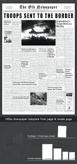 Historical Newspaper Template Monster Old Front Page