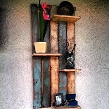 DIY Rustic Pallet Wood Wall Shelf Designs