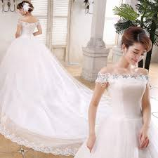 wholesale korea style beaded lace bridal wedding dress gown with