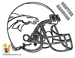 Cool Coloring Pages Nfl 19 Awesome Football Helmets