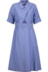 robyn cutout striped cotton poplin midi dress sandro uk the