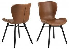 2x bali esszimmerstuhl braun stuhl set esszimmer stühle möbel küchenstuhl