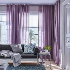 hilja gardinenpaar lila gardinen wohnzimmer modern