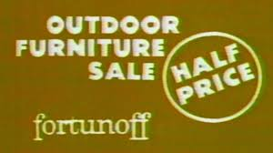 1982 - Commercial - Fortunoff Outdoor Furniture Sale - Half Price ... Outdoor Fortunoff Backyard Store Furtunoff Patio Photo Gallery Stuart Martin County Chamber Of Commerce Fniture With Appealing Credit Card Home Decoration Create Your Dream Perfect European Look Nylofilscom Landscape Inspiring Design Ideas Sale Austin Tx Swing
