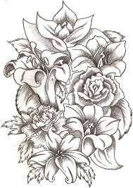 Flower Bouquet Drawing Drawings Flower Bouquets Drawing Artisan