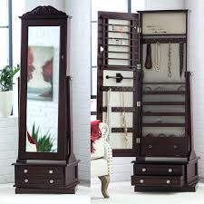 Decoration Mirror Wall Jewelry Armoire Modern Cheval Espresso ... Usa Free Shipping Organizer White Wood Rotating Desktop Jewelry Armoire Sewing Table Ikea Computer Corner Desks Amazoncom Hives And Honey Henry Iv Walnut Plaza Astoria Walldoormount Black Diplomat 31557 Watch Cabinet Fniture Beautiful For Home In Powell Classic Cherry Kitchen Ding Mirror With Or Wardrobe Blackcrowus Buy The Haley At Michaels Mele Co Alexis Wooden Belham Living Mirrored Lattice Front