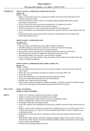 Front Office Administrator Resume Samples
