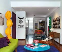 Colorful Interior Design For A Small Apartment