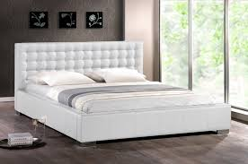 White Modern Bed Frame The Holland Enhance The Beauty Your