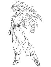 Anime Dragon Ball Goku Ssj3 Coloring Page