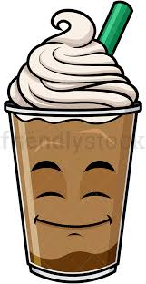 Happy Looking Iced Coffee Emoticon PNG