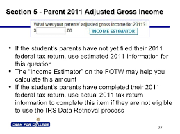 Cal Grant Income Ceiling Agi by Fafsa On The Web Powerpoint Presentation