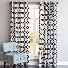 Flocked Geometric Curtain