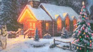 Thomas Kinkade Christmas Tree Cottage by Thomas Kinkade O Come All Ye Faithful Www World Wide Art Com